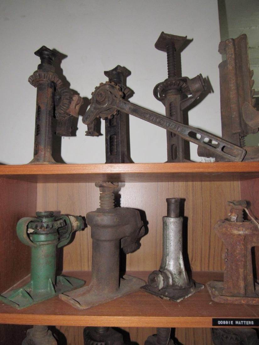 8 Antique Car Jacks