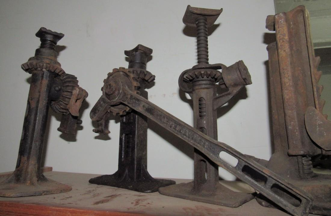8 Antique Car Jacks - 2