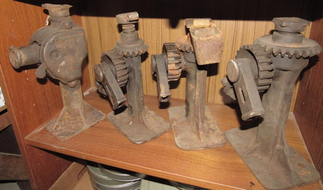 8 Antique Car Jacks - 3
