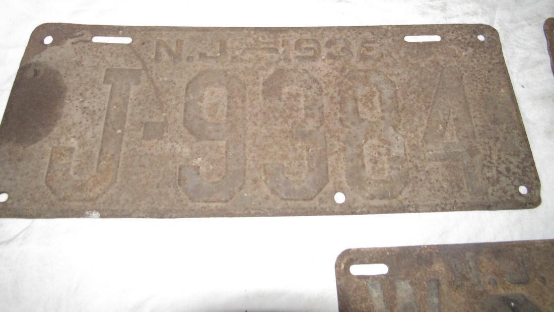Pair of 1936 & 1950 NJ License Plates - 2