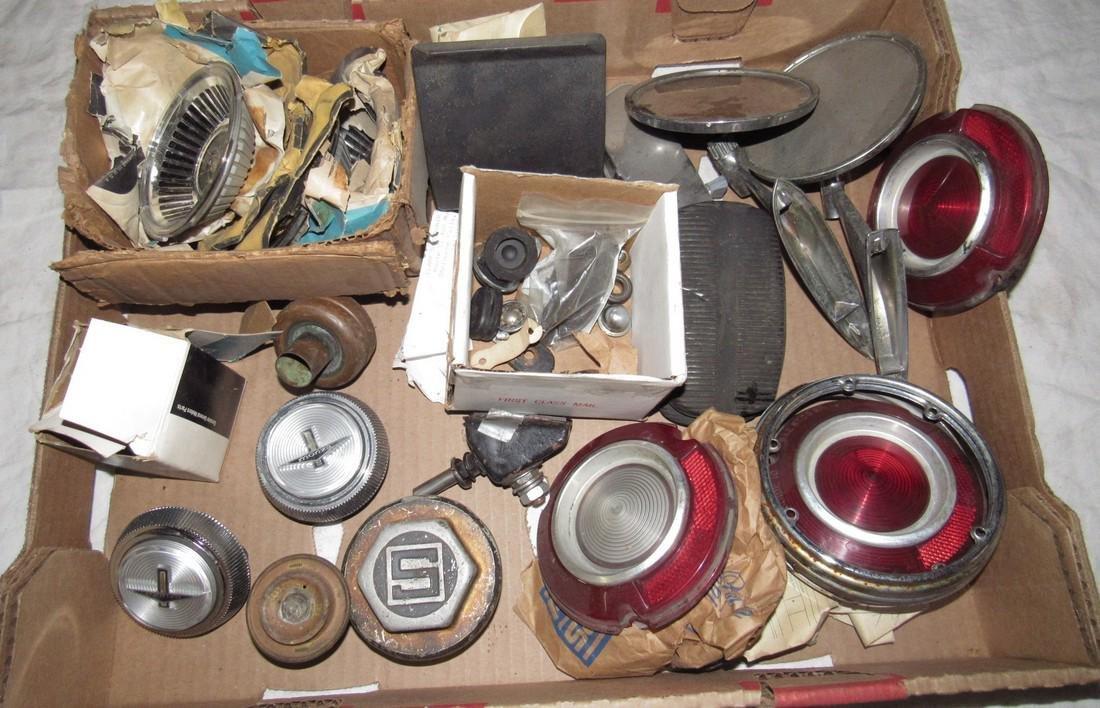 Monza Hubcap Centers Tail Light Lenses Mirrors Box Lot