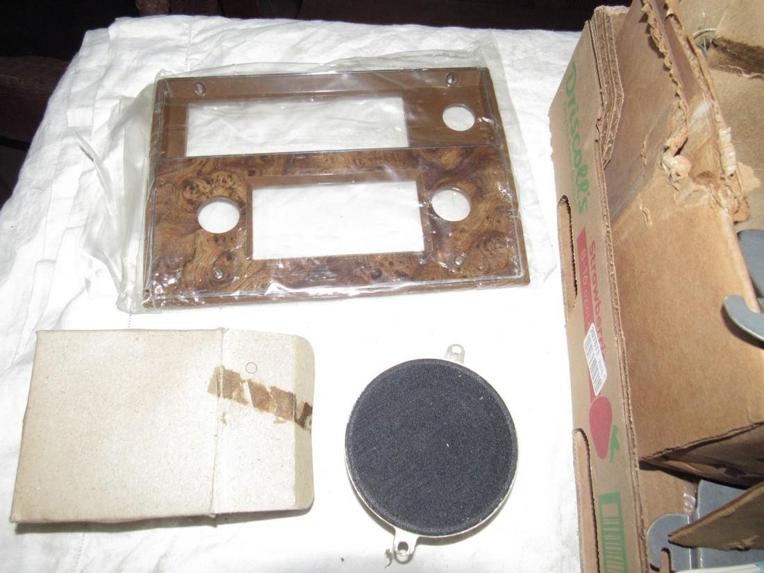 Box Lot of Car Speakers Dash Panel & Misc - 2