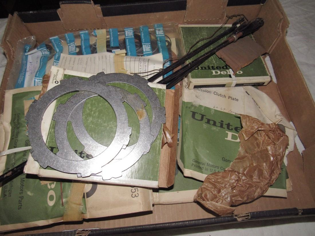 GM Delco Clutch Plates & Misc Box Lot - 2