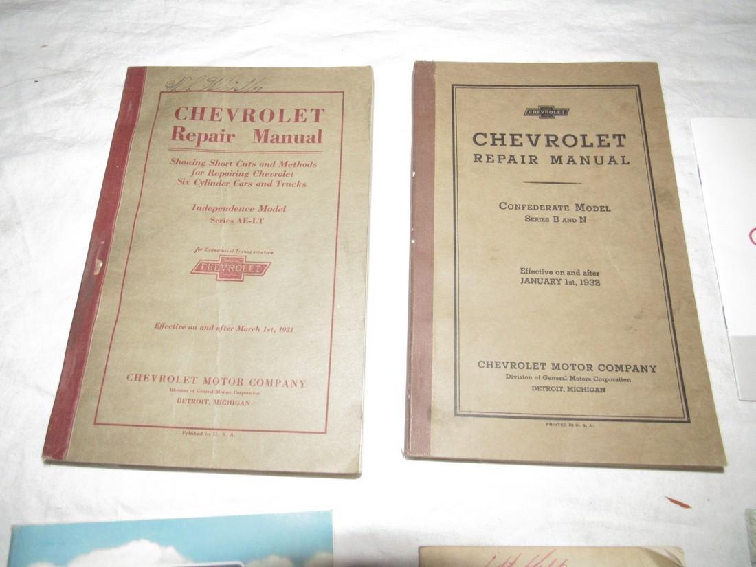 1931 & 1932 Chevrolet Repair Manuals & Misc Brochures - 2