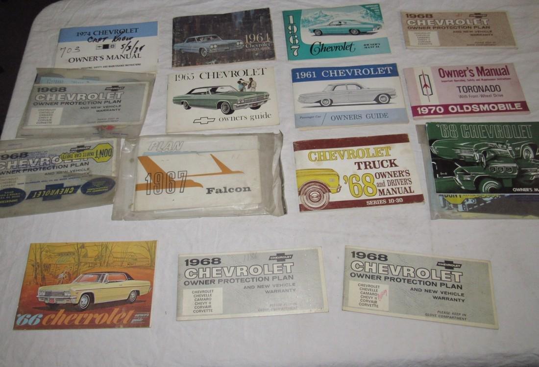 1960's Chevrolet Car Trucks Owners Manuals