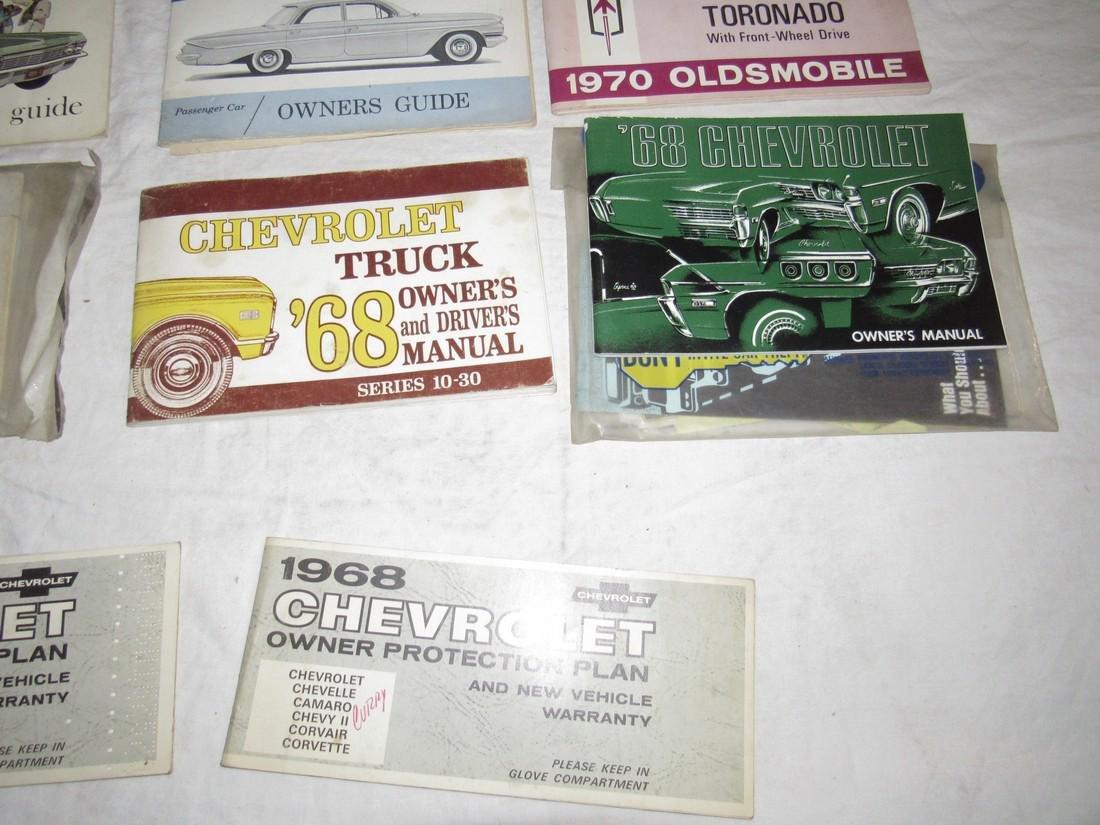 1960's Chevrolet Car Trucks Owners Manuals - 4