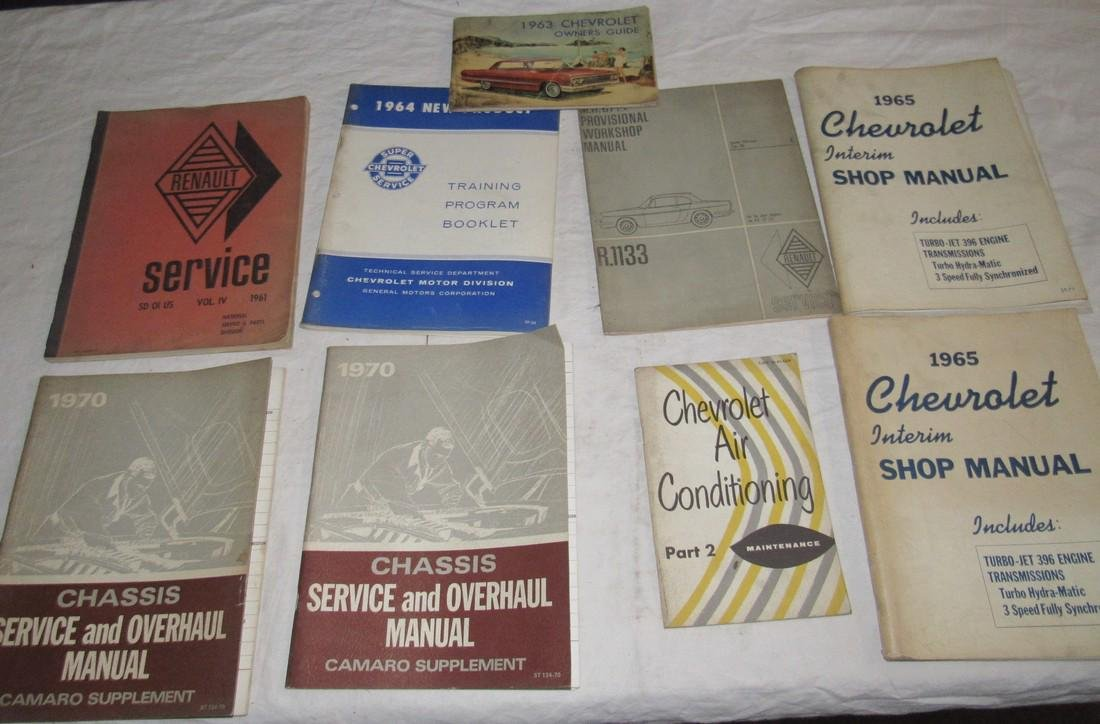 1965 Chevrolet Shop Manuals 1963 Chevy Owners Manual