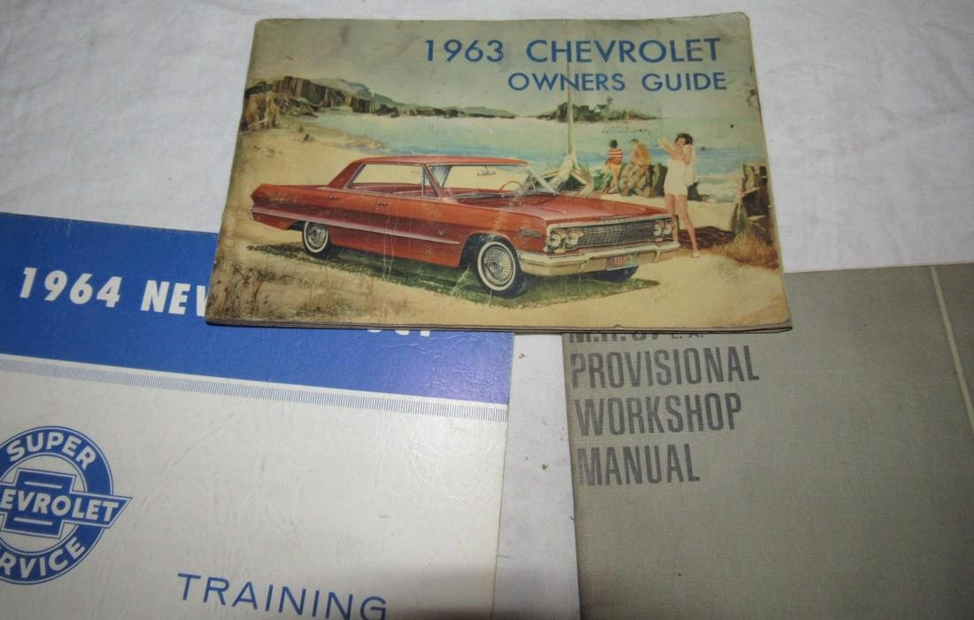 1965 Chevrolet Shop Manuals 1963 Chevy Owners Manual - 2