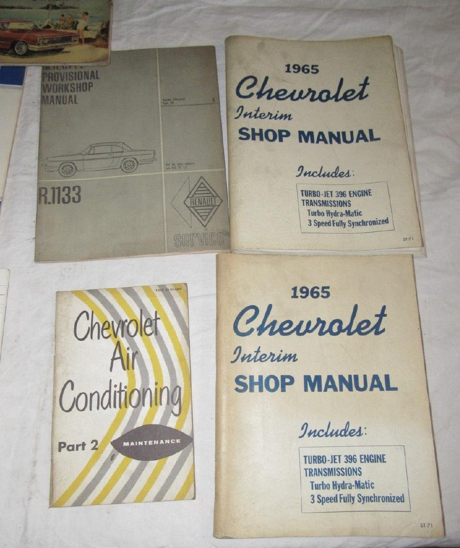 1965 Chevrolet Shop Manuals 1963 Chevy Owners Manual - 4