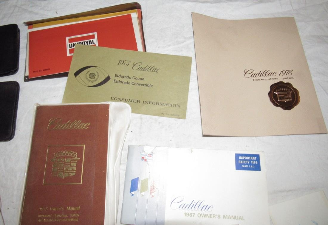 Cadillac Owners Manuals & Misc - 2