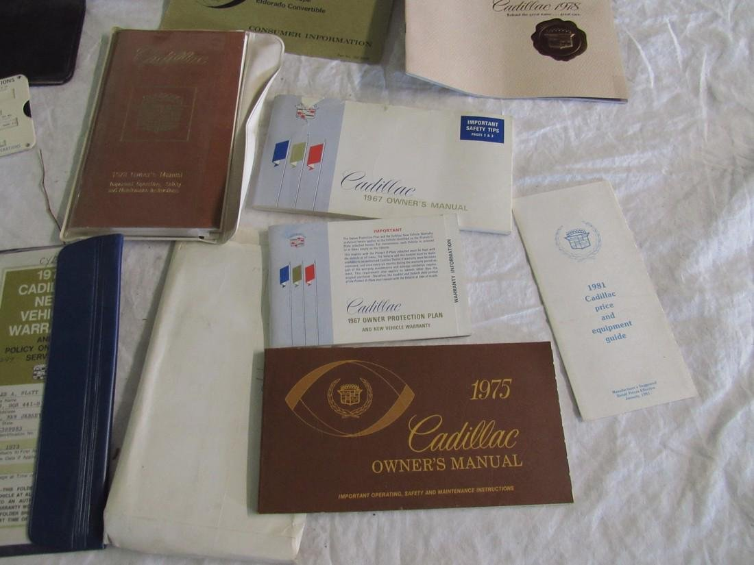 Cadillac Owners Manuals & Misc - 3
