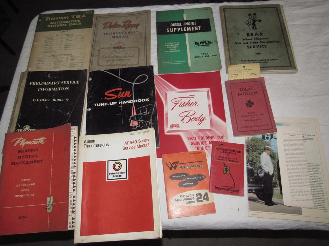 Sun Fisher Body Plymouth Ingersoll Rand Catalogs