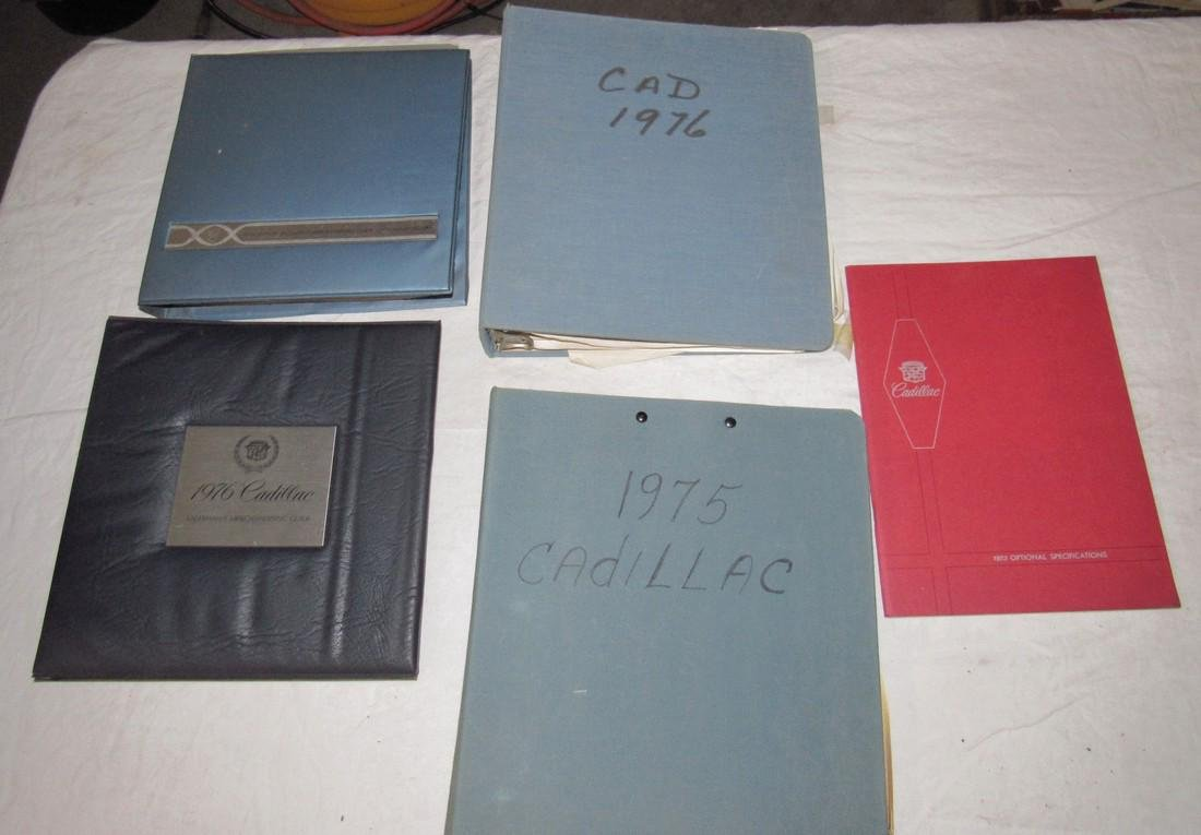1970's Cadillac Salesmans Merchandising Guides Binders