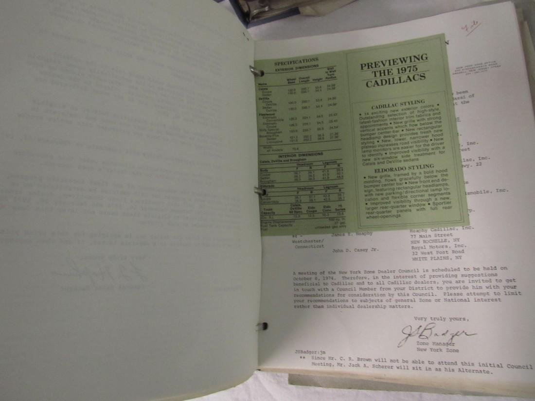 1970's Cadillac Salesmans Merchandising Guides Binders - 6