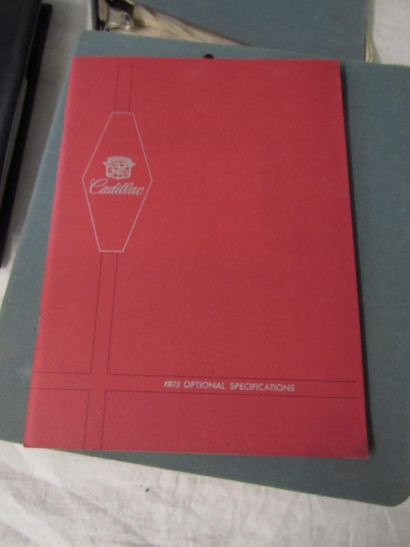 1970's Cadillac Salesmans Merchandising Guides Binders - 7