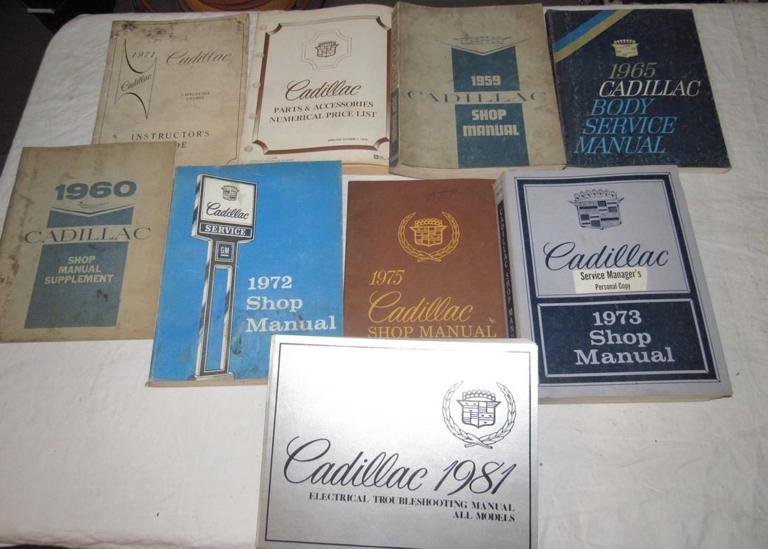 1950's - 80's Cadillac Shop Manuals