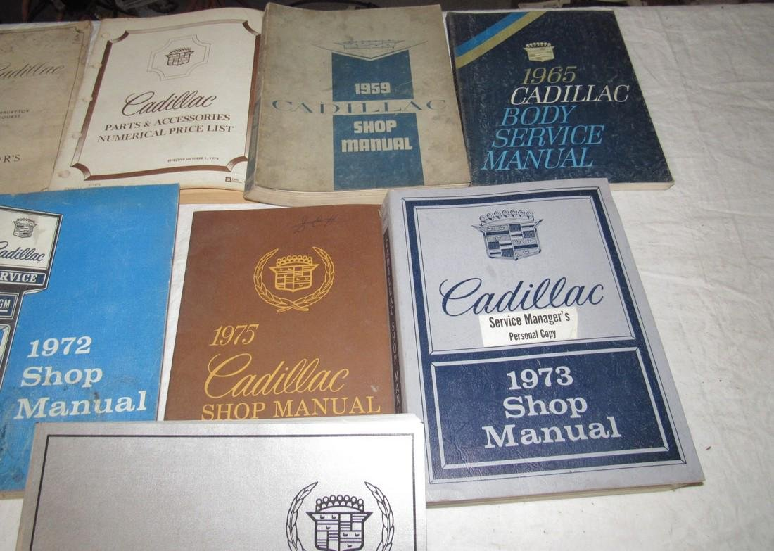 1950's - 80's Cadillac Shop Manuals - 4