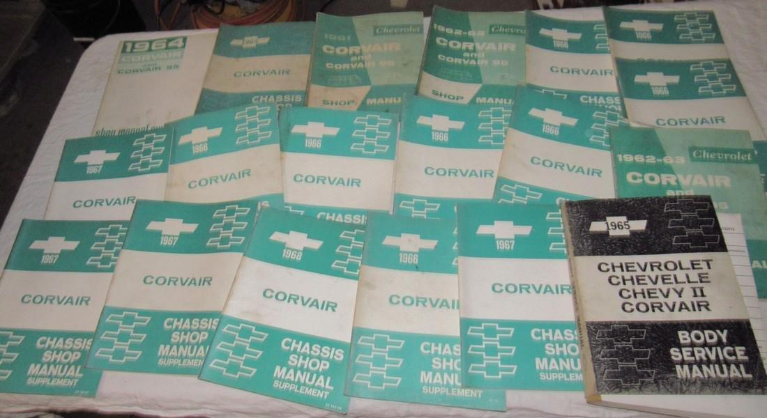 1960's Corvair Shop Manuals