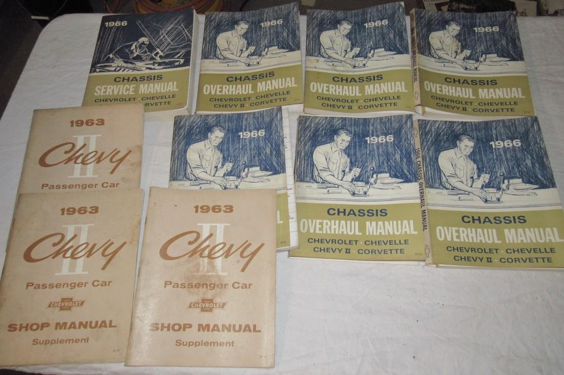 1963 & 1966 Chevrolet Shop Manuals