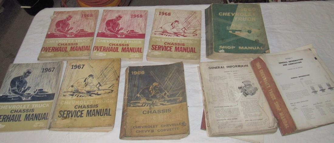 1960's Chevrolet Shop Manuals