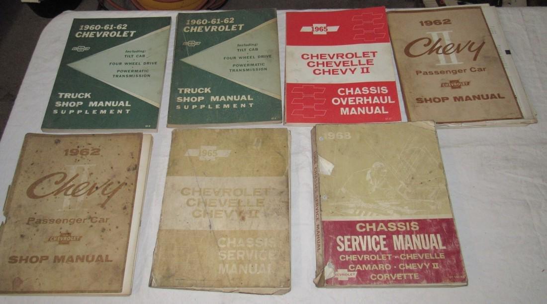 1960's Chevrolet Car Truck Service Shop Manuals