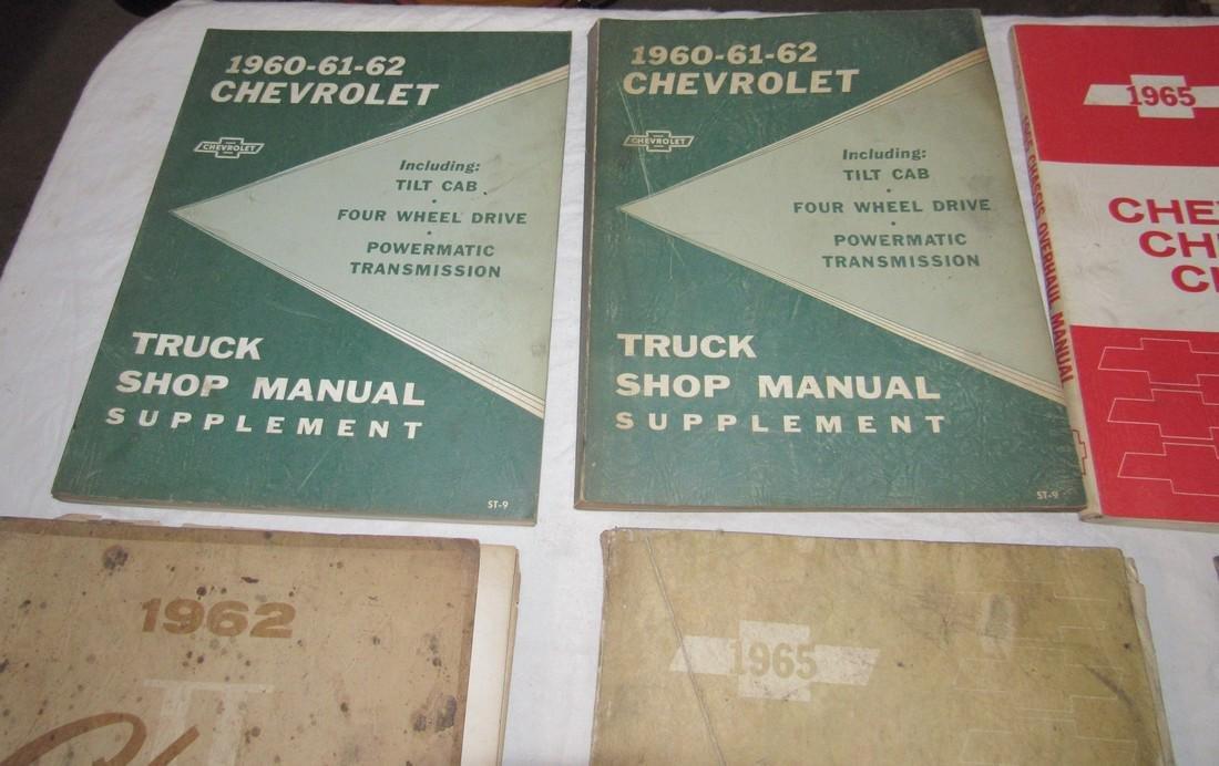 1960's Chevrolet Car Truck Service Shop Manuals - 2