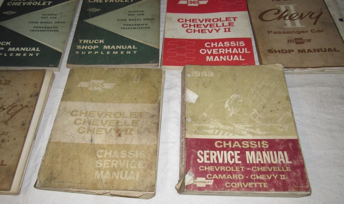1960's Chevrolet Car Truck Service Shop Manuals - 4