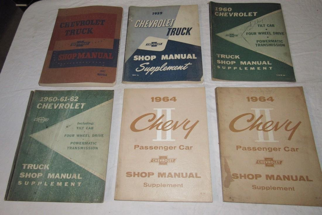 1950's & 60's Chevrolet Truck & Car Shop Manuals