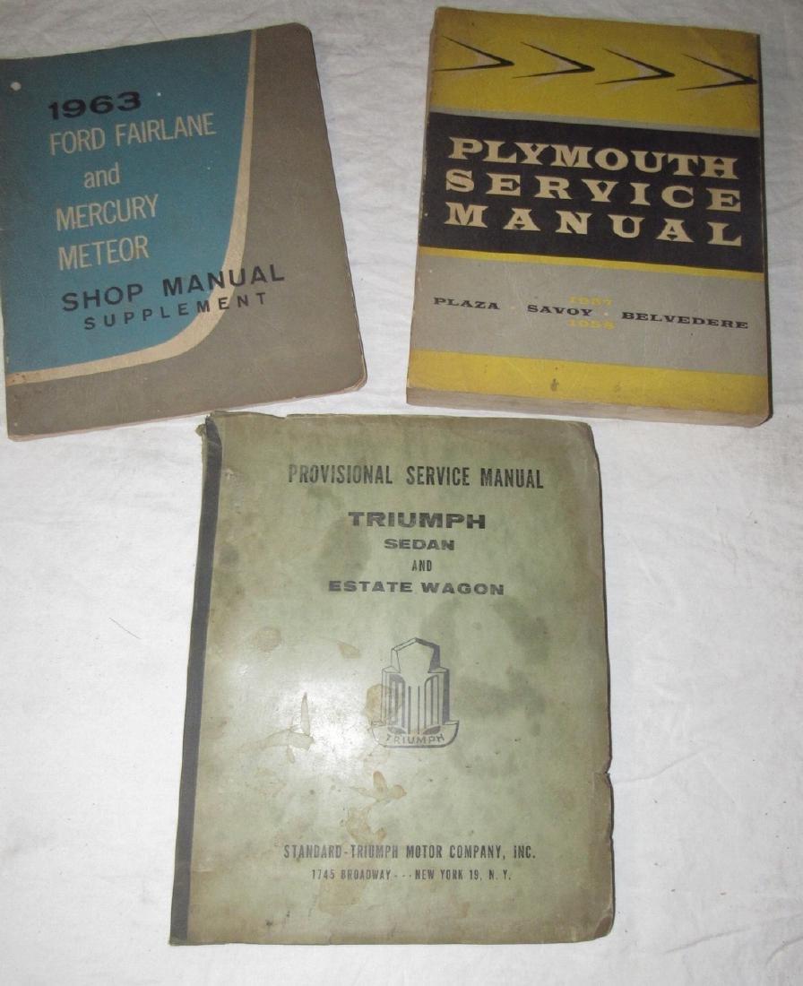 1963 Ford Fairlane Plymouth Triumph Sedan Shop Manual