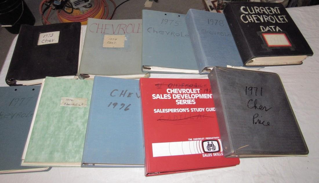 1970's & 80's Chevrolet Dealers Binders