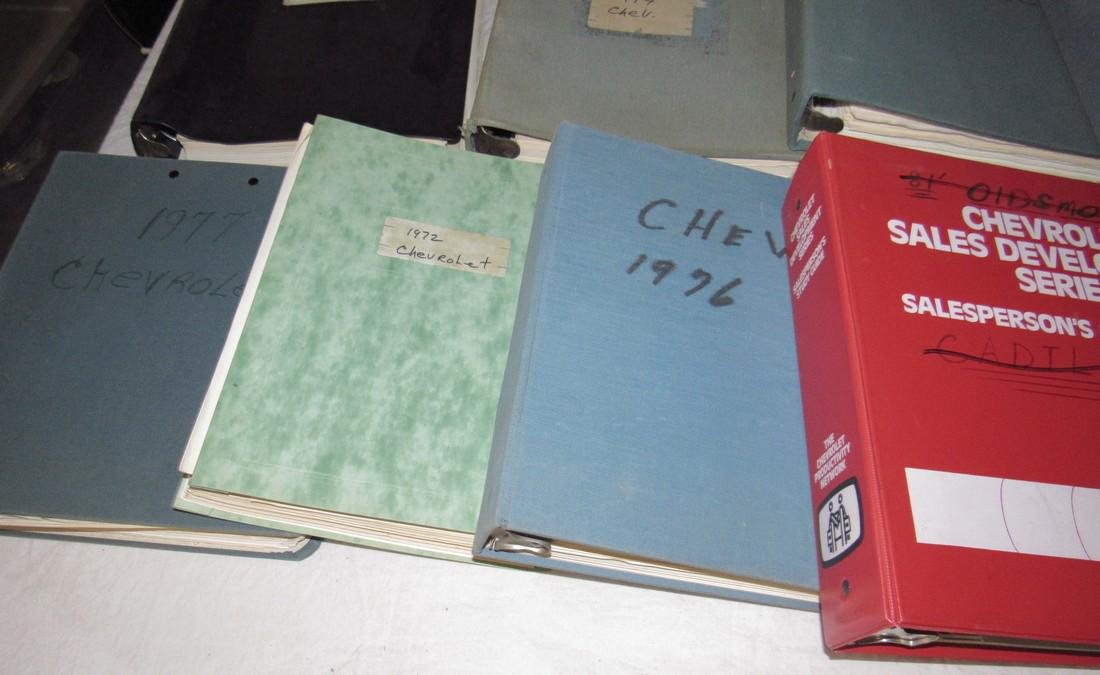 1970's & 80's Chevrolet Dealers Binders - 3
