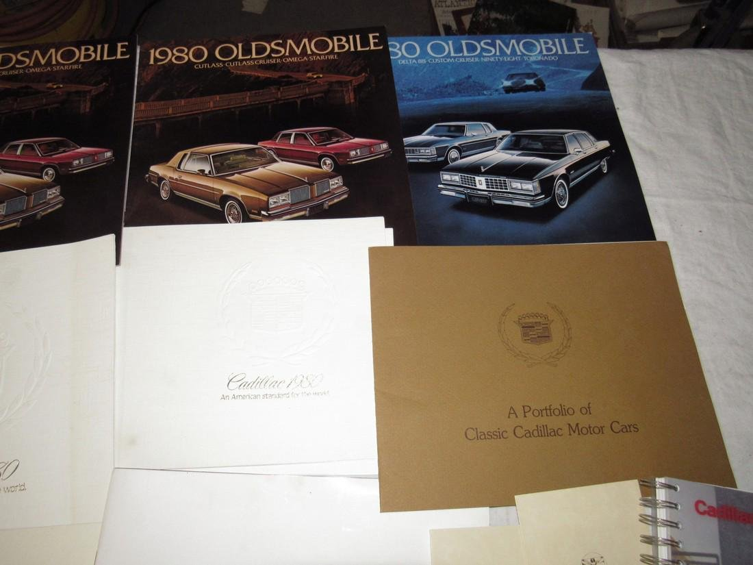 1970's & 80's Oldsmobile Cadillac Car Brochures - 3