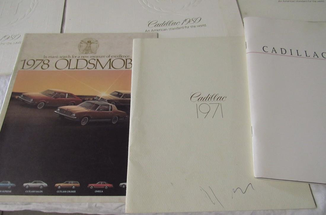1970's & 80's Oldsmobile Cadillac Car Brochures - 6
