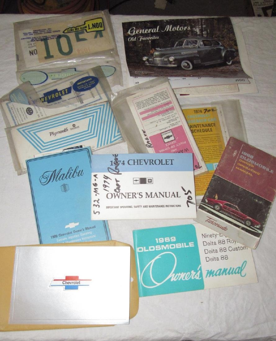 Chevrolet Oldsmobile Plymouth Malibu Owners Manuals