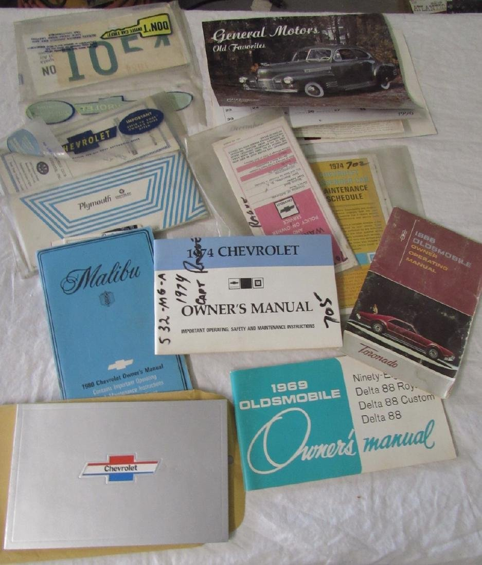 Chevrolet Oldsmobile Plymouth Malibu Owners Manuals - 2