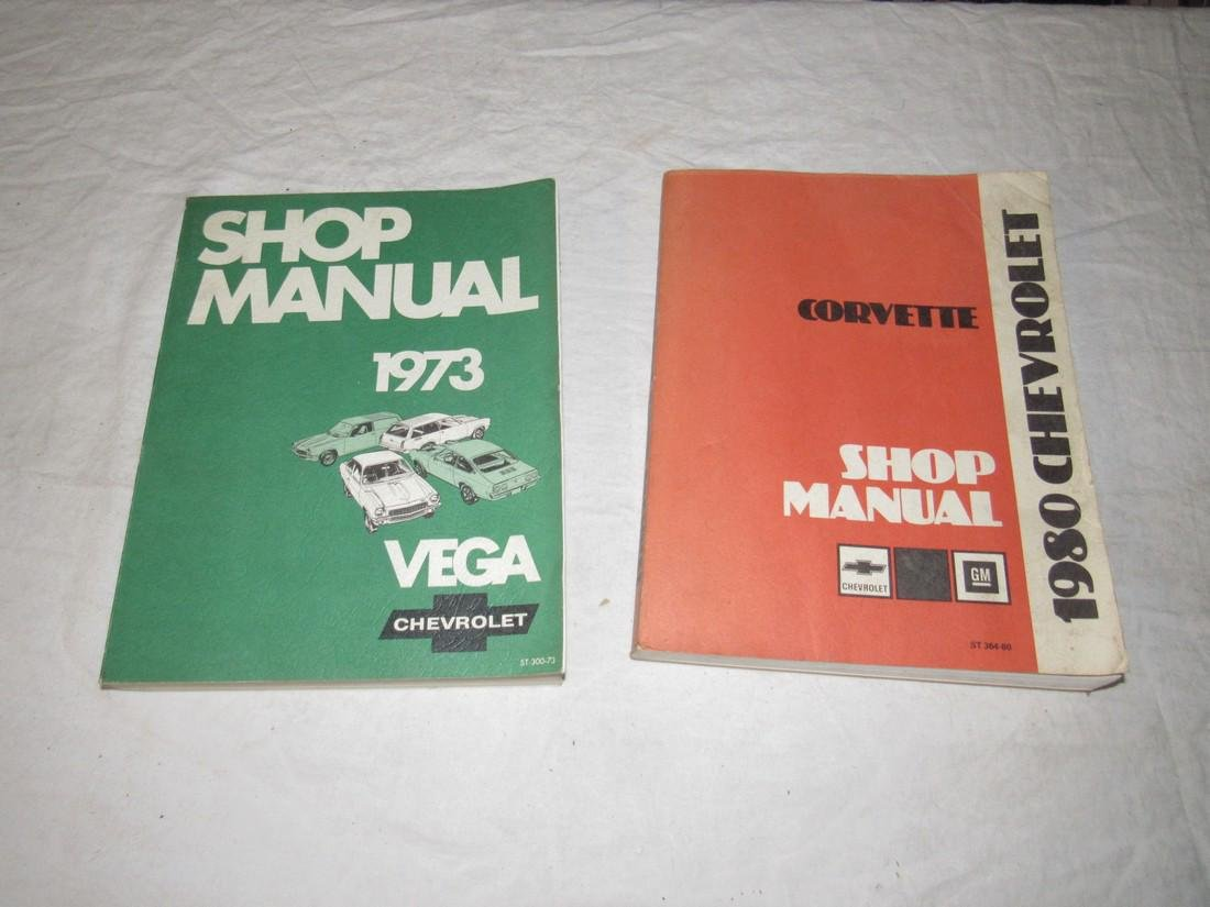1980 Chevrolet Corvette & 1973 Vega Shop Manuals