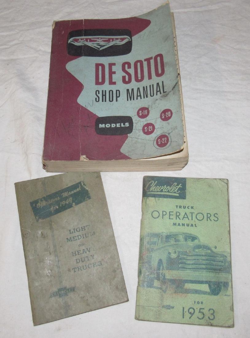 1949 1953 Chevrolet Trucks Owners Desoto Shop Manual