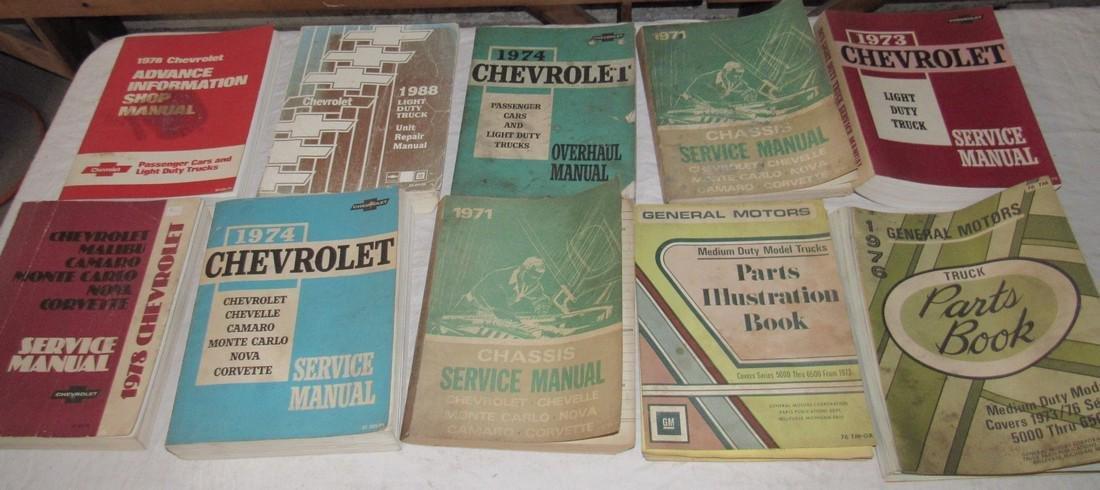1970's Chevrolet Service & Shop Manuals