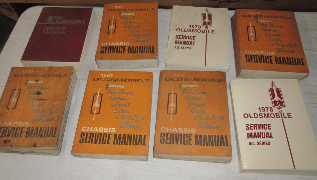 1960's - 1980's Oldsmobile Shop Manuals