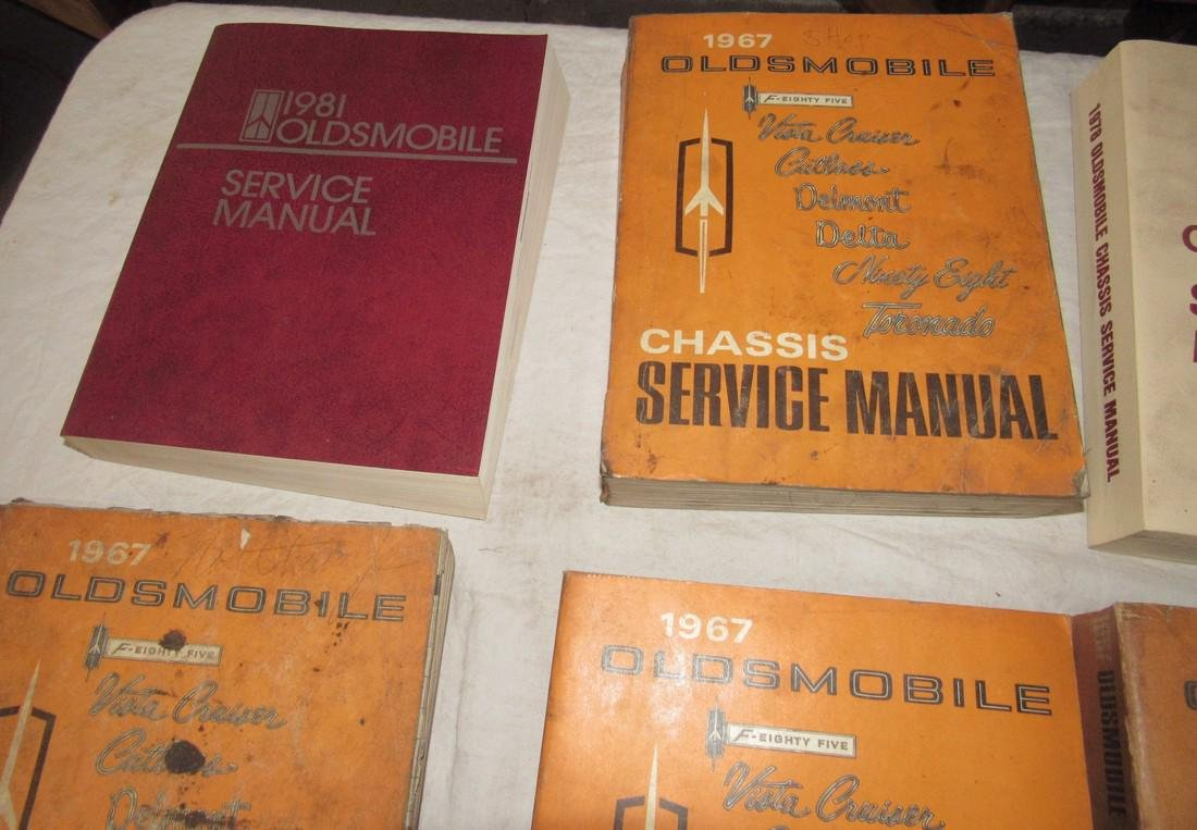 1960's - 1980's Oldsmobile Shop Manuals - 2