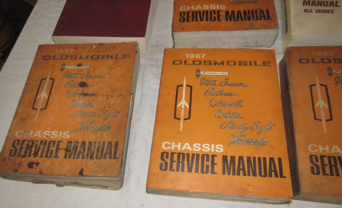 1960's - 1980's Oldsmobile Shop Manuals - 3
