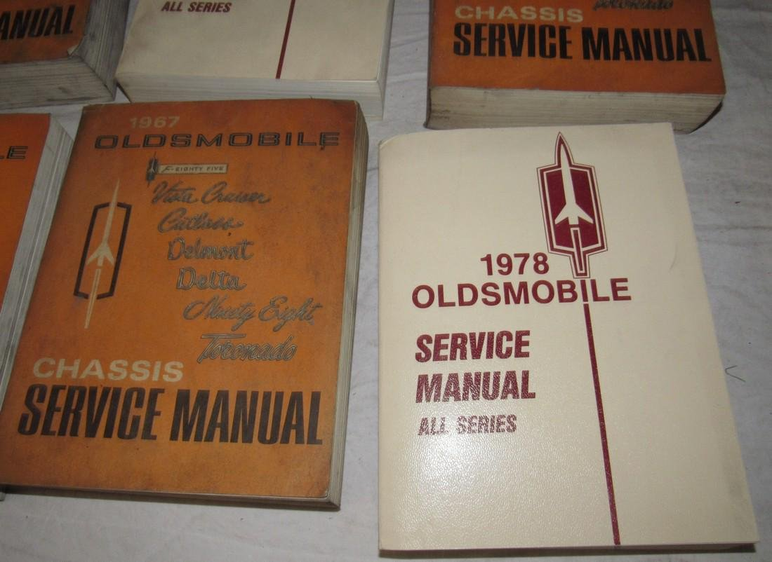 1960's - 1980's Oldsmobile Shop Manuals - 4