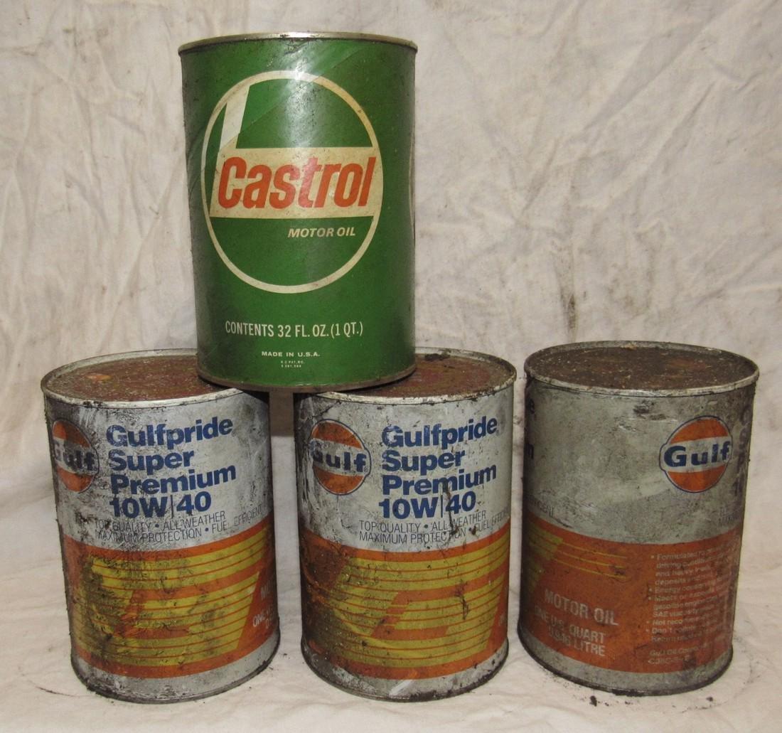 Gulf & Castrol Oil Cans