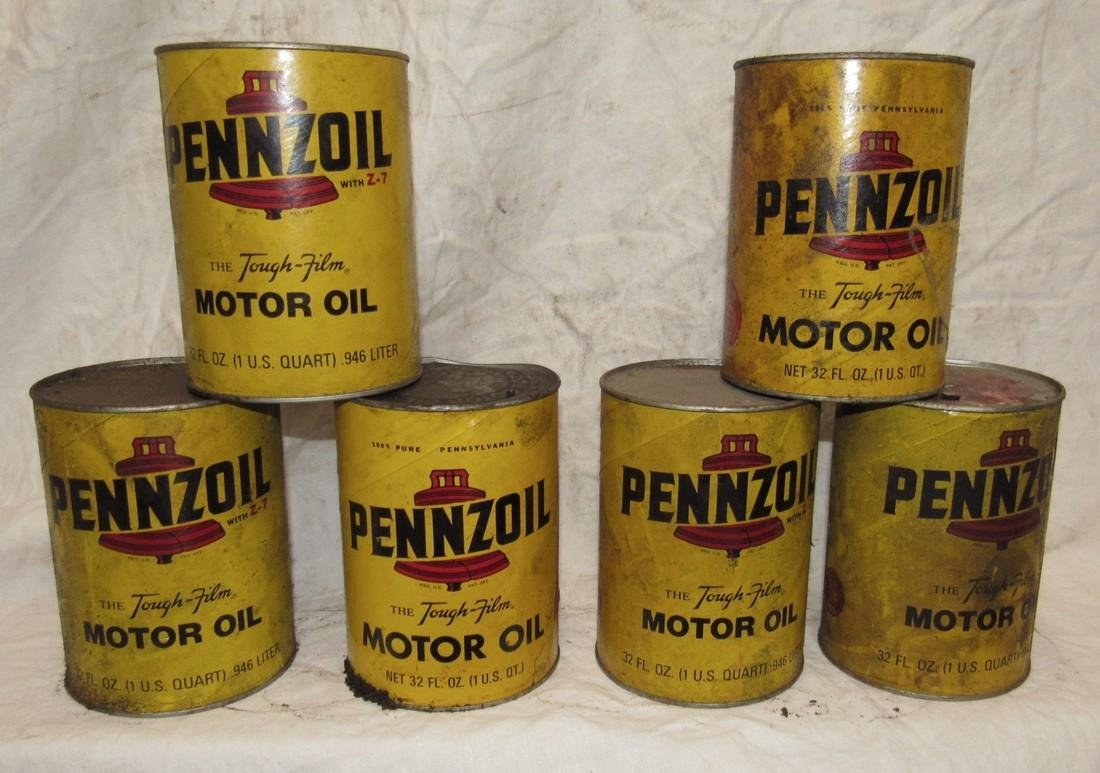 Pennzoil Motor Oil Cans