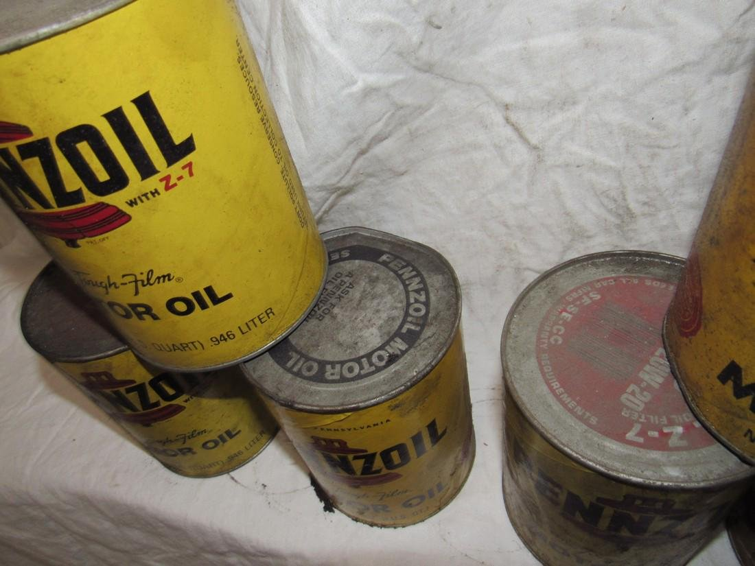 Pennzoil Motor Oil Cans - 2