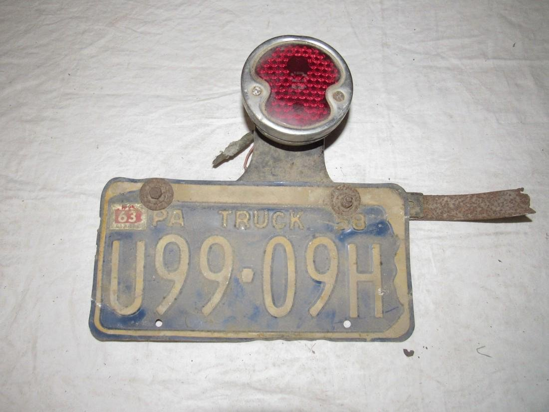 PA License Plate & Brake Light