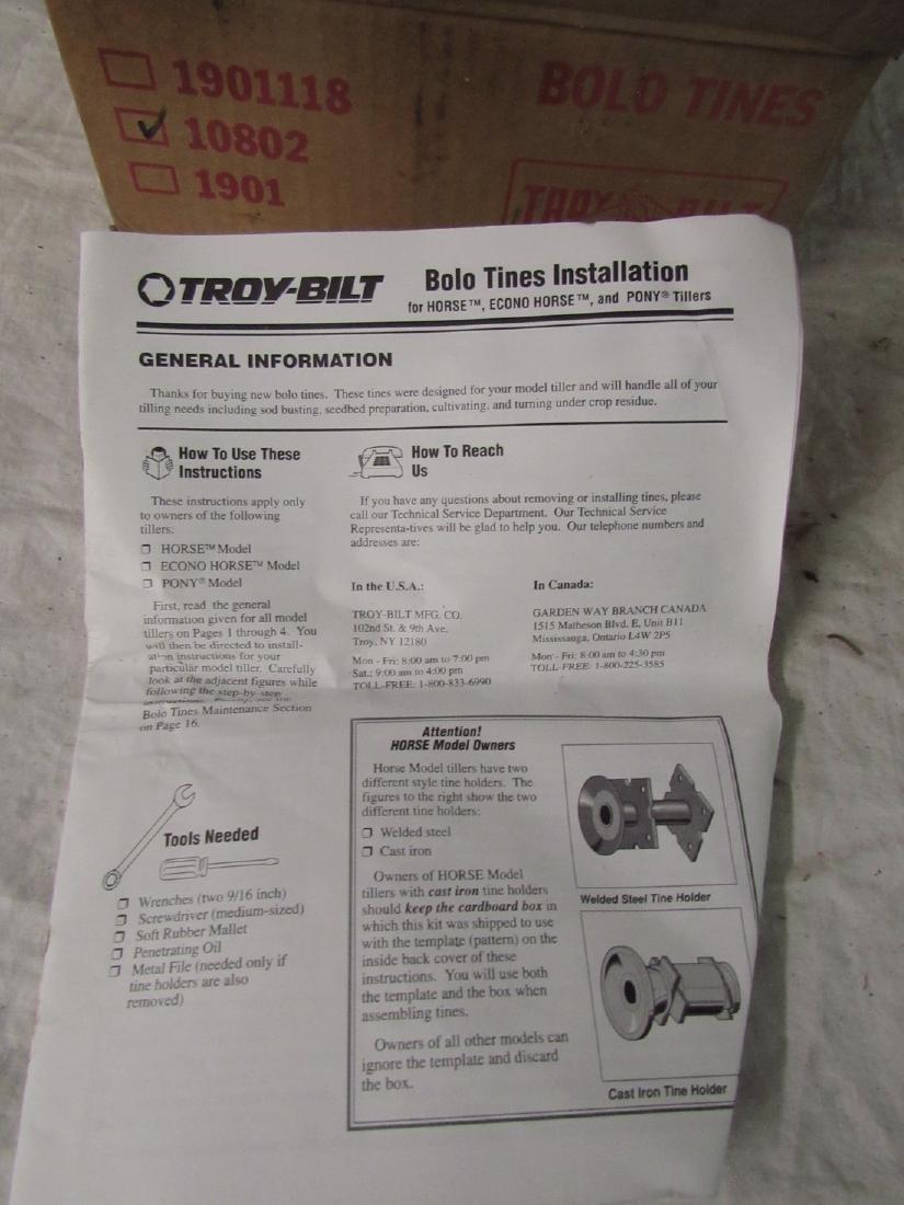 Troy-Bilt Rototiller Bolo Tines Part # 10802 - 2