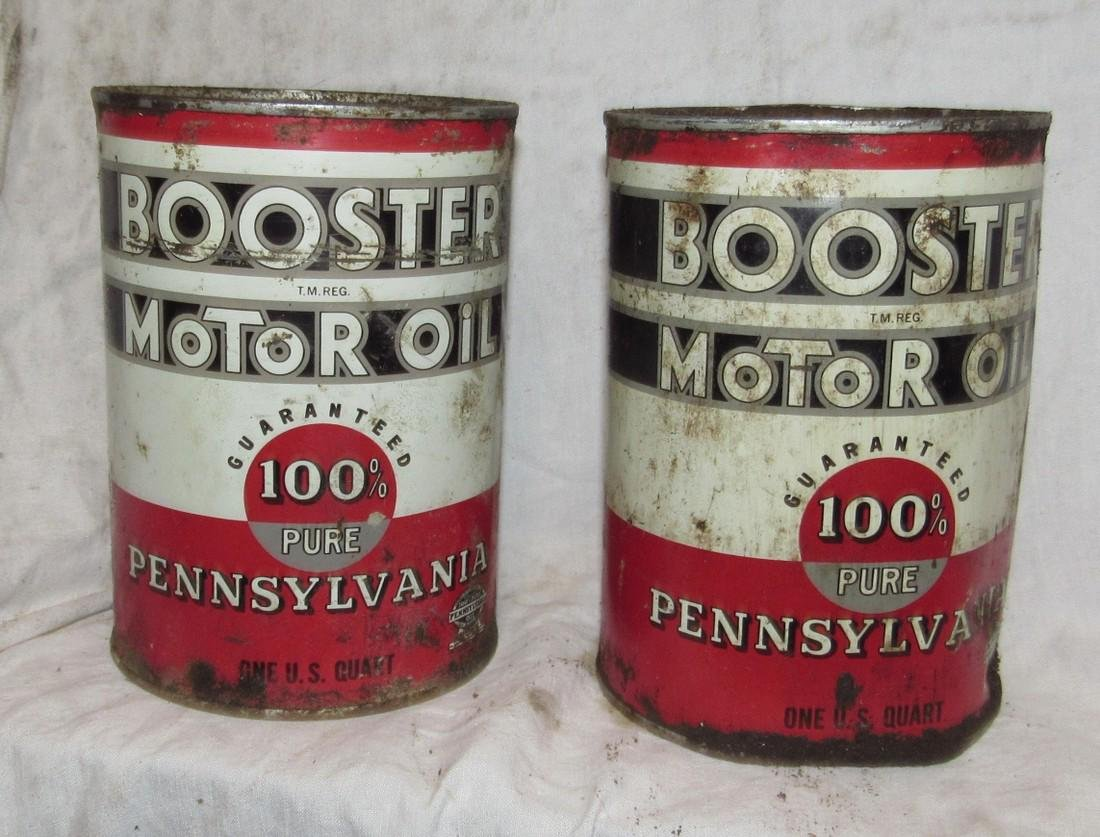 Pennsylvania Motor Oil Cans