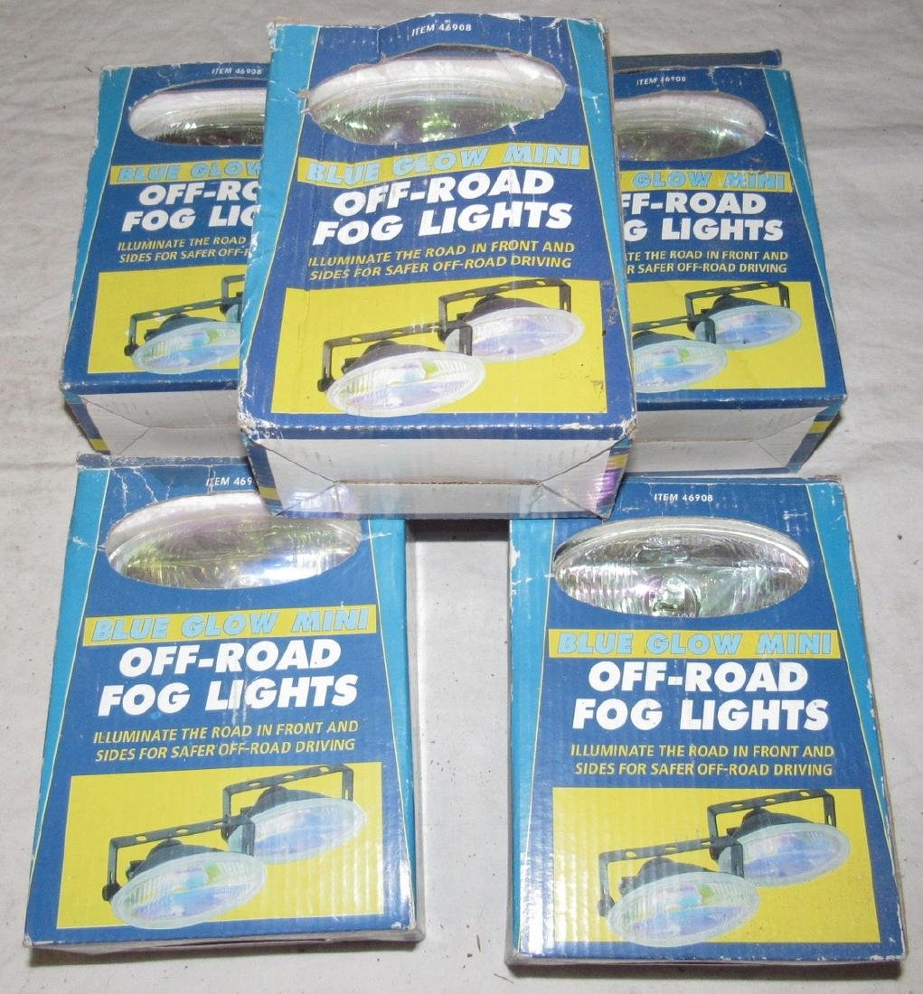 5 Pair Blue Glow Mini Off Road Fog Lights