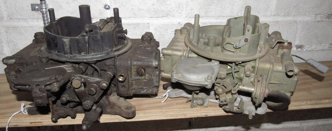 2 Holley 4 Barrel Carburetors